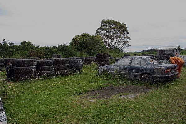 Asylum Paintball Wrecking Yard Action 1 600W